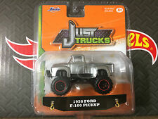 JUST TRUCKS JADA 2016 1:64 1956 FORD F-100 PICKUP SILVER WITH FLAMES WAVE 12