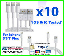 10x USB Charger Cord Cable Compatible to charge iPhone 6S PLUS 3FT Wholesale Lot