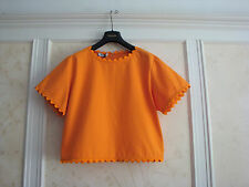 NWT $425 MOSCHINO CHEAP AND CHIC ORANGE COTTON TOP BLOUSE SHIRT 42/8