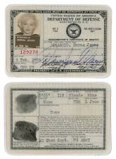 Framed Print - Marilyn Monroe's Original American ID Card (Picture Poster Art)
