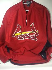 St. Louis Cardinals Majestic Convertible Gamer Jacket XXL NWT MLB 1/4 Zip