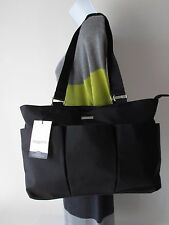 BAGGALLINI LARGE e/w Tote Black Light-Weight Water Resistant Nylon Shoulder Bag