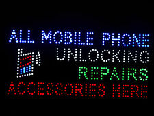 LED mobile unlocking repairs sign board 31.5x16""