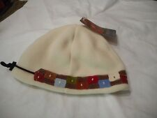 Shred Alert Hippy Beanie Cream Smooth One Size Knit Polyester Hat Cap Snowboard