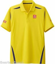 UNIQLO x Novak Djokovic 2016 Australian Open DRY-EX Polo Shirt M Yellow **NWT**