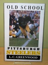 "L.C. GREENWOOD ""Old School Pittsburgh Steelers"" 11x17 Poster"
