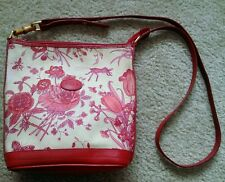 Gucci Flora crossbody, red leather , gold tone, bamboo accent, code# 007•14•0069