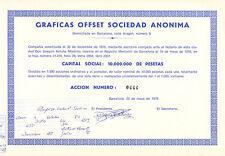Graficas Offset Sociedad Anonima, accion, Barcelona, 1976