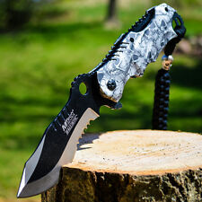 "8"" M-TECH SPRING ASSISTED OPEN Blade Tactical FOLDING POCKET KNIFE Bowie Switch"
