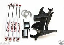 "S10 LIFT KIT 6"" X 4"" CROWN SUSPENSION SPINDLES DOETSCH TECH NITRO SHOCKS 2WD 1"