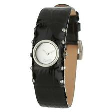 D&G Time Orologio donna Cottage in pelle nero con borchie DW0351 lady watch