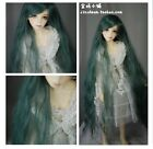 King's shop WIG 50cm Long green bjd SD 8-9 size for 1/3 doll