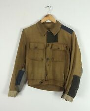 Vtg Antique 30s French Cycling Jacket Patched Darned Chore Worker Hobo Repaired