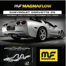 "Magnaflow Cat Back Dual Exhaust 2000-2004 Chevy Corvette C5 5.7L QUAD 4"" TIPS"