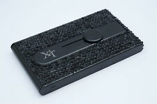 Black Crystallized Bling Bling Automatic Business Card Holder