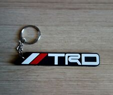 TRD TOYOTA  Keyring Keychain Black White Red Rubber Car Racing Collectible New