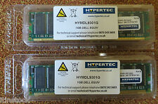 Hypertec 2GB (2x1GB Modules) Dell Equivalent RAM HYMDL9301G PC3200 DIMM NEW