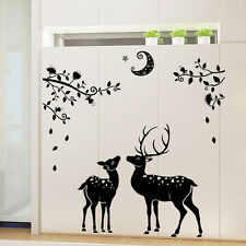 Removable Deer Silhouette Wall Decal Sticker Mural Door Home Christmas Decor .