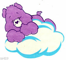 """4.5"""" CARE BEARS ON A CLOUD  FRIEND GLOW IN THE DARK FABRIC APPLIQUE IRON ON"""