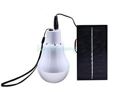 Portable Led Bulb Light Solar Energy Lamp Garage Travel Outdoor Camp Tent  Home