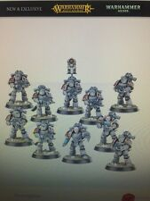 Warhammer 10 Legion Veteran Tactical Space Marines in MkIII 'Iron' Power Armour