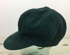 SUEDE HAT - Vtg 80s Womens Leather Tall Top Baseball Cap, Elastic Band 6.75-7.25