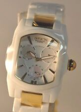 New Invicta 6301 Lupah White Gold Corian Two Tone Bracelet Watch