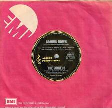 """THE ANGELS - COMING DOWN - SUPER RARE 3RD SINGLE 7"""" 45 VINYL RECORD - 1978"""
