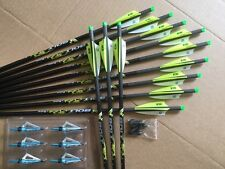 "PSE CROSSBOW BOLTS BY VICTORY 2 DOZEN CARBON H/MOON 20"" FREE POINTS !"