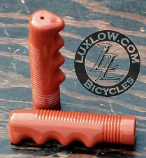 Brown Bike GRIPS Vintage Cruiser Stingray Muscle Bicycle Lowrider Schwinn Beach