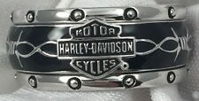 Franklin Mint Harley Davidson Rumble Roll Sterling Silver Ring Size 11 Mens 84v5