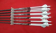 1 Dozen Easton Full Metal Jacket 400 black fletched custom carbon arrows!
