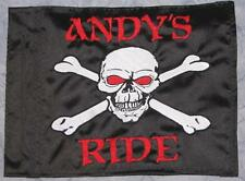 Custom Red Eye Skull Safety Flag 4 ATV UTV Bike Jeep Dune Safety Flag Whip Pole