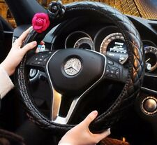 1pc Fashion Lady Camellia Car Auto Series Steering Wheel Cover