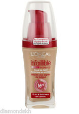 L'Oreal Infallible long lasting 16 hour Pump Foundation 30ml in 220 sand (sable