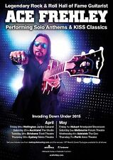 "ACE FREHLEY ""INVADING DOWN UNDER 2015"" AUSTRALIA CONCERT TOUR POSTER - Kiss"