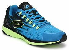 Lotto Men's Windride Royal, Black and Lime Running Shoes - 9 UK/India