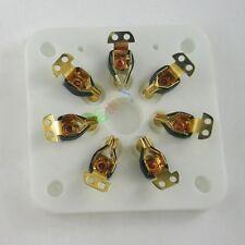 10x 7pin Gilded Ceramic vacuum tube socket gold valve base 6C33 832 829 FU29 826
