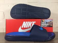 New Men's Benassi Solarsoft Slide Blue Slippers UK Size 9