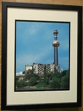 Friedensreich Hundertwasser print -12''x16'' Framed, Spittelau Heating Station