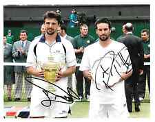goran ivanisevic holding wimbledon trophy with pat rafter signed 10x8 photo