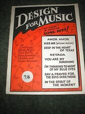 SHEET MUSIC BOOK-DESIGN FOR MUSIC 8 SONGS 20 PAGES 1960'S