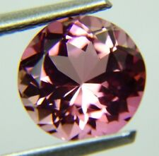 Natural Pink Tourmaline,2.27ct,8x5mm,round, red pink, very clean Brazil,409