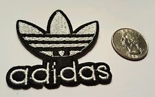 "ADIDAS PATCH  Logo PATCH embroidered iron on Patches   patch 2"" x 2"" WHT"