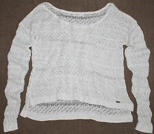 Abercrombie & Fitch Womens Cream & Metallic Casual Fit Sweater Large L