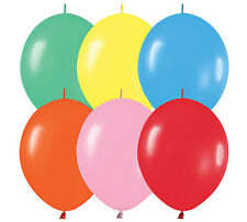 "10ct. MIX ASSORTMENT Link-o-Loon 6"" Latex Helium Linking Balloons ARCHES ARBORS"