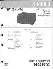 Sony Original Service Manual für STR-H 100