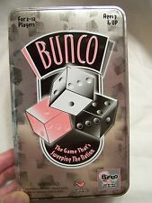 OFFICIAL BUNCO DELUXE 2005 Edition Dice Game In Breast Cancer  Tin Fun EUC