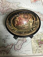 Antique/vintage Globe/globus Map Of The Old World In Italian Small Size