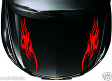 Car Racing Flames Hood Decals  Vinyl sticker #CG318